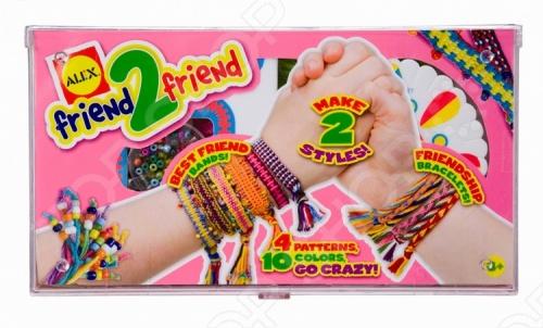 Набор для плетения браслетов ALEX «Для друга»Наборы для плетения<br>Набор для плетения браслетов ALEX Для друга С помощью данного набора каждая девочка сможет научиться плести самые разнообразные и замысловатые браслеты-фенечки не только для себя, но и для своих подруг. В наборе: шнуры для плетения 10 цветов, 2 станка.<br>
