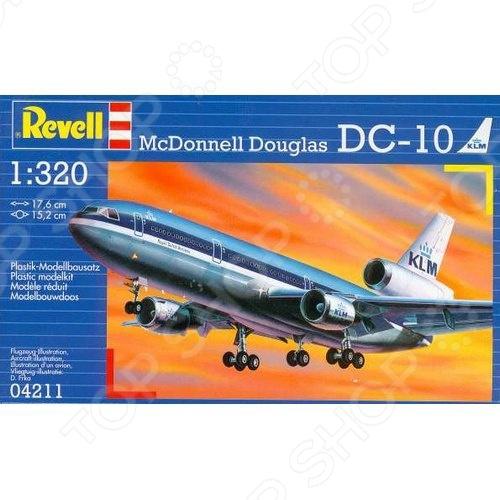Сборная модель пассажирского самолета Revell McDonnell Douglas DC-10 ubec 3а 12в dc dc преобразователь понижающий модуль 3а 12v мини bec для rc самолета с fpv