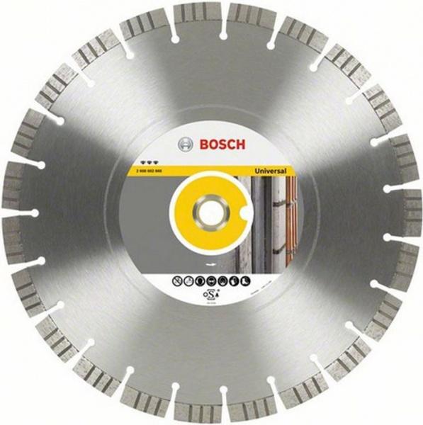 Диск отрезной алмазный Bosch Best for Universal 2608602667 диск отрезной алмазный для угловых шлифмашин bosch best for ceramic