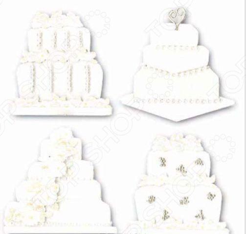 Стикеры ЗD EKSuccess Tools «Свадебные торты»