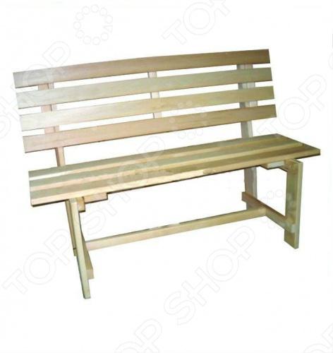 Скамейка для бани и сауны Банные штучки со спинкой набор женский для бани и сауны банные штучки 33301