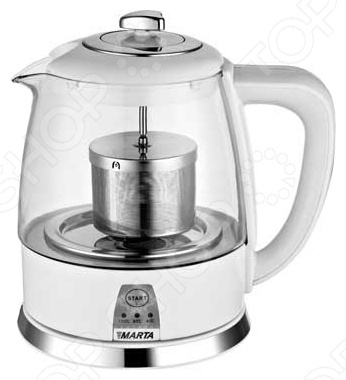 Чайник MARTA MT-1048Чайники электрические<br>Чайник MARTA MT-1048 представляет собой замечательный образец кухонных приборов, без которых не может сегодня обойтись ни одна хозяйка. Высококачественные материалы, устойчивые к температурным перепадам не вступают в реакцию ни с чем и не выделяет вредных веществ, что делают чайник безопасным для его обладателей, а так же долговечным в использовании. Оригинальный внешний вид без труда впишется в любой интерьер и станет украшением вашей кухни.<br>