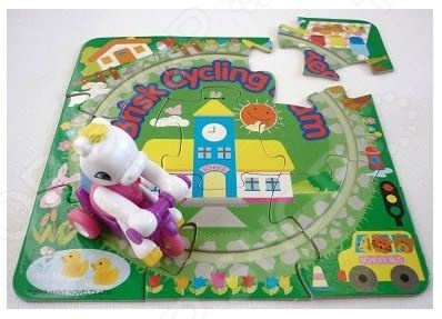 фото Игрушка заводная Hans «Озорной велосипедист на подставке», Игрушки заводные