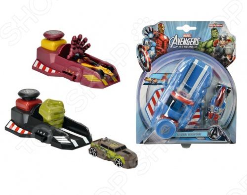 Набор игровой: пусковой механизм и машинка Majorette «Мстители». В ассортименте