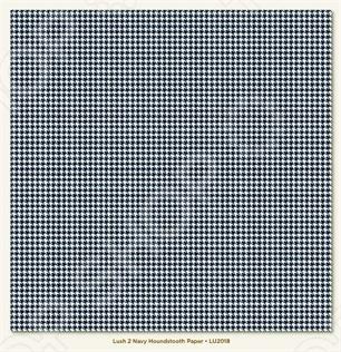 фото Бумага для скрапбукинга двусторонняя Morn Sun Navy Houndstooth, купить, цена
