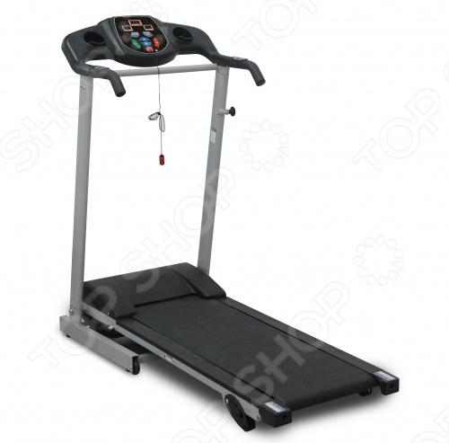 Дорожка беговая Brumer TM1370DБеговые дорожки<br>Беговая дорожка Brumer ТМ 1370D довольно экономична и потребляет всего 0,75 КВт ч. при мощности 1 л.с. Удивительно легкая, компактная модель беговой дорожки. Весит всего 36 кг! Рекомендуется для взрослых и подростков с низкой и средней массой тела. Максимально допустимый вес пользователя составляет 100 кг. Компьютер беговой дорожки Brumer ТМ 1370D запрограммирован на 9 типов тренировки. Достаточно выбрать одну из них и запустить тренажер. В течении тренировки он сам будет дозировать нагрузку, постепенно увеличивая ее при достижении определенных результатов. Кроме того имеется возможность регулировки наклона бегового полотна это делается вручную . Складная конструкция беговой дорожки обеспечит удобство хранения. В комплекте также предусмотрены транспортировочные ролики для ее перемещения.<br>
