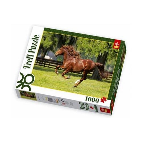 Пазл 1000 элементов Trefl «Мчатся кони»