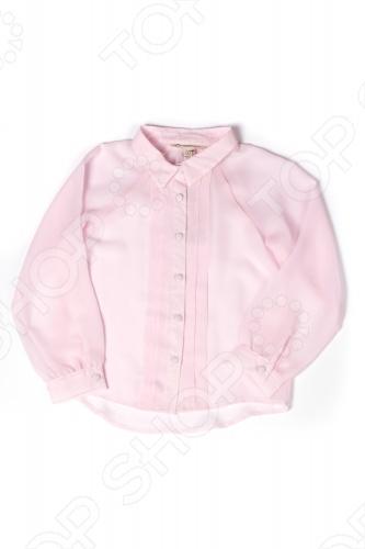 Блуза детская для девочки Appaman Breezy Blouse. Цвет: розовыйДетские блузы<br>Блуза Appaman Breezy Blouse для юной модницы. Модель из прозрачного материала с отложным воротничком и длинными рукавами прекрасно подойдет вашей малышке для ежедневных прогулок. Блуза декорирована вертикальными складками и снабжена пуговицами по всей длине. Она практична и не деформируется после стирки. Изделие выполнено из 100 полиэстера.<br>