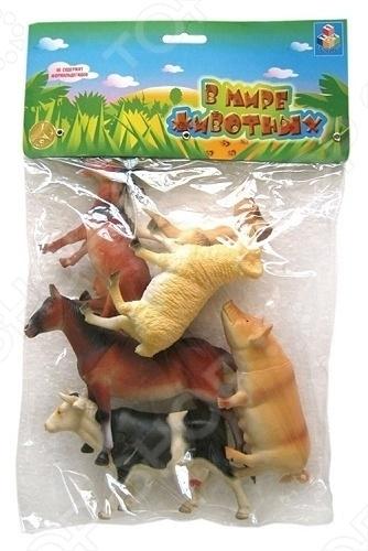Набор животных с фермы 1 Toy Т50554