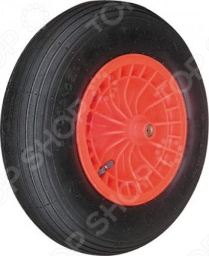 Колесо запасное FIT для тачки 77556 это отличное колесо, диаметром 16 х4 для тачки модели 77566. Колесо с резиновой шиной и камерой, грузоподъемность 220 кг. Есть шариковый стальной подшипник, диск крашенный в красный цвет. В случае, если вы часто используете тачку, лучше иметь запасное колесо, что бы избежать возможных проблем.