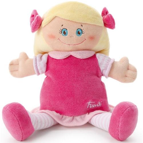 Кукла мягкая Trudi Девочка в малиновом платье