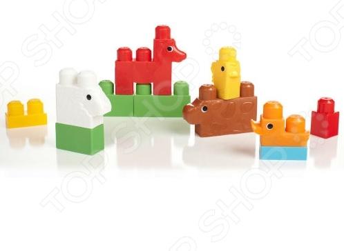 Конструктор для малышей Mega Bloks «Зоопарк» mega bloks mega bloks конструктор обучающий для малышей разные формы