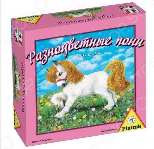 Игра настольная Piatnik «Разноцветные пони» настольная игра для вечеринки piatnik тик так бумм вечеринка 737497
