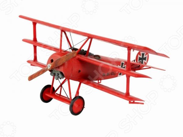 Сборная модель триплана Revell Fokker DR.1 модель сборная revell самолет fokker e iii 1 72