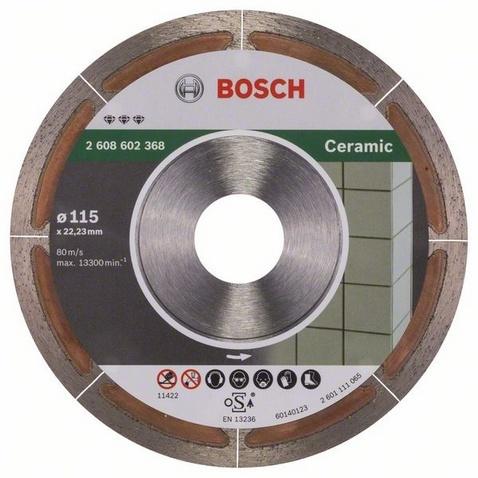 Диск отрезной алмазный для угловых шлифмашин Bosch Best for Ceramic Extraclean диск отрезной алмазный турбо 115х22 2mm 20006 ottom 115x22 2mm