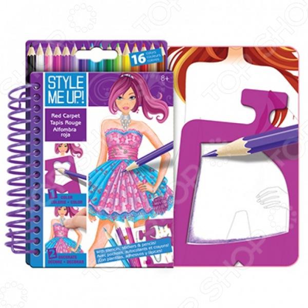 Блокнот с карандашами Style Me Up! «Подиум» наборы для творчества wooky style me up блокнот с карандашами супер звезда