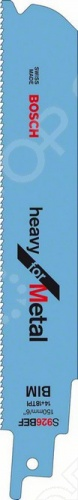 Набор пилок сабельных Bosch S 926 BEF пилки для лобзика по металлу для прямых пропилов bosch t118a 1 3 мм 5 шт