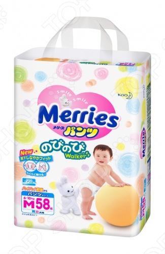Трусики-подгузники Merries размер M 6-10 кг + 2 шт 62020073