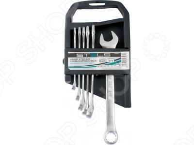 Набор ключей комбинированных STELS матовый хром, 12 шт.