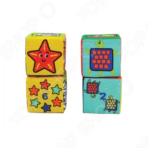 Кубики мягкие K'S Kids «Кубики-пазлы» павлин мягкие пазлы