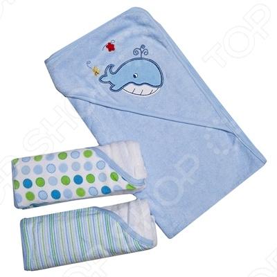 фото Комплект полотенец с капюшоном Spasilk «Кит», Полотенца. Салфетки для купания