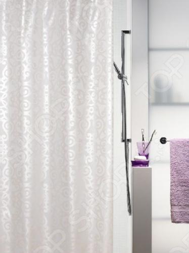 Штора для ванной комнаты Spirella ORSINI это отличная штора, которая изготовлена из экологически чистого текстиля. Верхняя кромка имеет отверстия для колец. Приятный рисунок успокаивает и замечательно вписывается в дизайн вашей ванной комнаты. Ткань штор нельзя гладить, сушить и отжимать в стиральной машине. Если необходимо очистить поверхность, то рекомендуется ручная стирка.