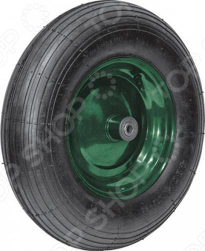 Колесо запасное FIT для тачки 77550 это отличное колесо, диаметром 16 х4 для тачки модели 77550. Колесо с резиновой шиной и камерой, грузоподъемность 150 кг. Есть шариковый стальной подшипник, диск крашенный в зеленый цвет. В случае, если вы часто используете тачку, лучше иметь запасное колесо, что бы избежать возможных проблем.