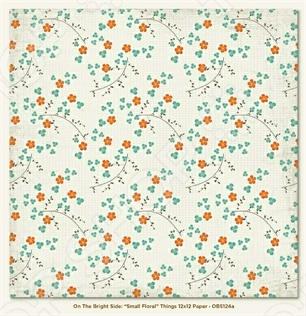 фото Бумага для скрапбукинга двусторонняя Morn Sun Small Floral Things, купить, цена