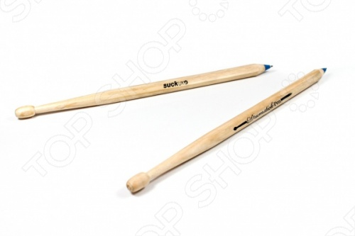 Ручки креативные Suck UK DrumstickРучки для школы<br>Ручки креативные Suck UK Drumstick станут отличным дополнением к набору ваших канцелярских принадлежностей. Ведь это не просто ручки, а по совместительству и маленькие барабанные палочки. Изделия выполнены из натурального дерева; есть возможность замены стержня. Теперь у вас есть возможность устроить настоящий музыкальный баттл посреди рабочего дня.<br>