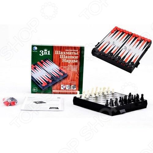Игра настольная 3 в 1 Shantou Gepai «Шахматы, шашки, нарды» настольная игра нарды шахматы нарды малые деревянные в ассортименте в 1
