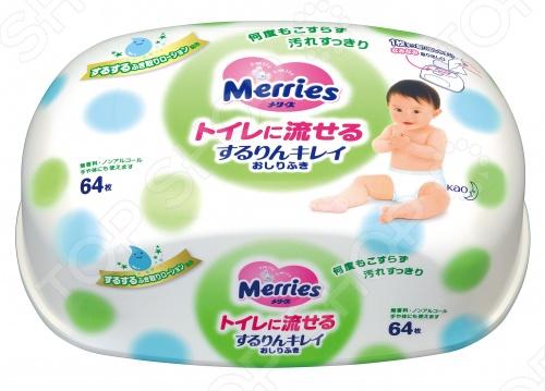 фото Влажные салфетки детские Merries Flushable, Уход за кожей