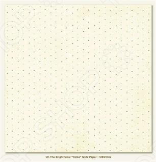 фото Бумага для скрапбукинга двусторонняя Morn Sun Polka, купить, цена