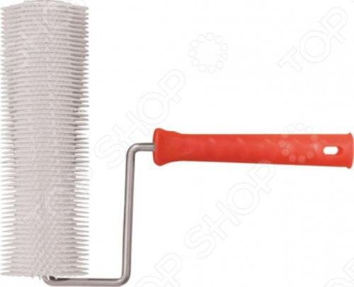 Валик пластиковый игольчатый РОС Мини предназначен для удаления воздуха из раствора при заливке полов. Пластиковая рукоять не скользит в руке и способствует удобству в работе, а отверстие в ней облегчает хранение инструмента. Иголки выполнены из пластмассы и имеют длину 14 мм.