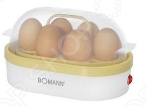 Яйцеварка Bomann EK 5022 CB - яйца готовятся на пару, при этом используя минимальное количество воды. Каждое яйцо помещается в свое гнездо, поэтому яйца не соприкасаются друг с другом, а значит, не трескаются и не вытекают. Нагревательный поддон с антипригарным покрытием.