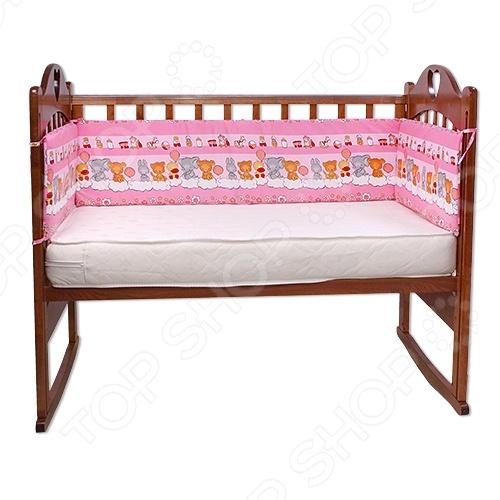 фото Бортики в кроватку Луняшки «Игрушки», Постельные принадлежности для новорожденных