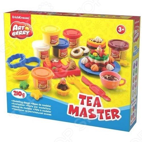 Пластилин Erich Krause Tea Master детский набор позволит малышам попробовать свои силы в моделировании. Лепка из пластилина - полезное и увлекательное занятие - ребёнок сможет создавать своими руками различные поделки и украшения. В процессе работы с пластилином развивается абстрактное мышление, воображение, мелкая моторика рук, малыш учится правильно сочетать цвета.