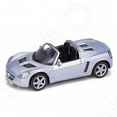 Модель машины 1:34-39 Welly Opel Speedster. В ассортиментеМодели авто<br>Модель машины 1:34-39 Welly Opel Speedster это коллекционная модель, которая является копией настоящего автомобиля. Она изготовлена из металла с элементами пластика. У машинки открываются двери, двигаются колеса. Машинка является отличным подарком не только ребенку, но и коллекционеру. Однако, во время игры с такой машинкой у ребенка развивается мелкая моторика рук, фантазия и воображение.<br>