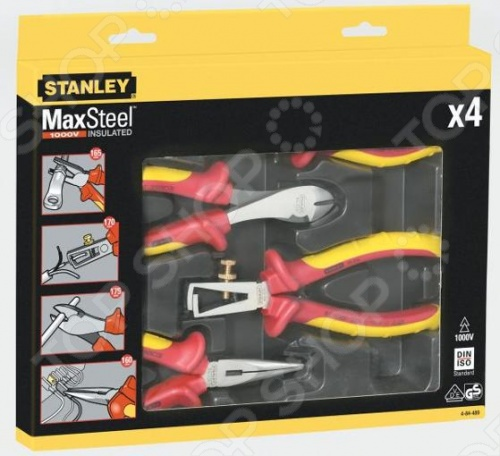 Набор из плоскогубцев и кусачек электрика Stanley MaxSteel VDE 1000V 4-84-489 tooth structure post master 4d assembly human anatomy model medical model tooth model biological experiment free shipping