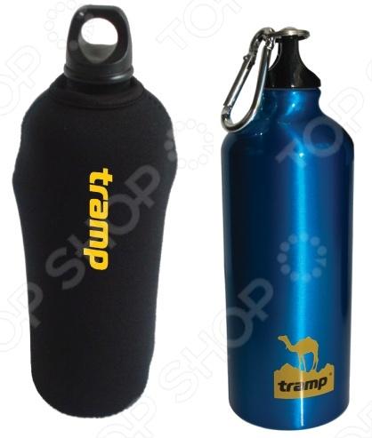 Бутылка алюминиевая в чехле Tramp TRC-033