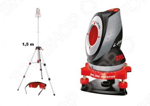 Нивелир лазерный Skil 0510ABУровни<br>Нивелир лазерный Skil 0510AB современное многофункциональное приспособление, пришедшее на смену рулетке, предназначенное для точного измерения длины и неограниченной областью применения. Проецирует горизонтальные, вертикальные и крестообразные, а также диагональные линии. Измерения производится в метрах и футах. Линия лазерного луча не деформируется даже при наличии выступов или каких либо препятствий. Оснащена функцией авто-выравнивания AUTO LEVEL и поварачивается вручную на 360 , это позволит направить лазер по всей площади. Также оборудован дисплеем для контроля и удобного считывания информации. Для расширения рабочего диапазона используется штатив предоставленный в комплекте. Питается от аккумулятора.<br>