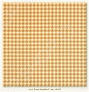 фото Бумага для скрапбукинга двусторонняя Morn Sun Orange Houndstooth, купить, цена