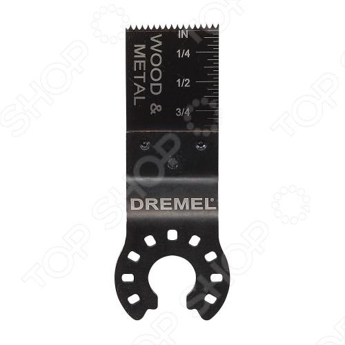 Полотно пильное для резки дерева и металла заподлицо Dremel MM422Расходные материалы для пил<br>Полотно пильное для резки дерева и металла заподлицо Dremel MM422 представляет собой надежное и практичное приспособление для точных и врезных швов. Подходит для работы с цветными металлами, деревом, пластмассой, гипсокартоном и другими мягкими материалами подобного рода.<br>