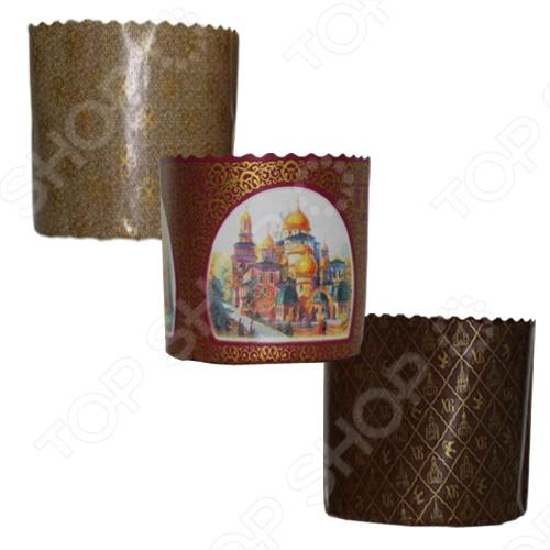 Набор бумажных форм для выпечки куличей «Пасхальный» 11350 плетение из бумажных веревочек набор 3 солнечный мак