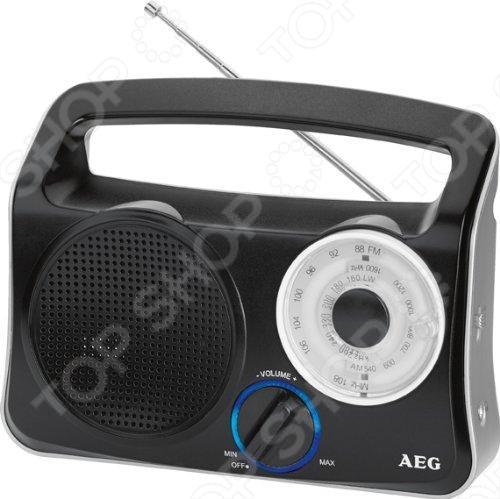 Радиоприемник AEG TR 4131 - портативный 3-полосный приёмник FM MW LW с телескопической антенной. Имеет красивую голубую подсветку . Удобные ручки управления. Питание от сети и от батарей. Сбоку у него разъем для наушников. А так же, ручка для переноски.