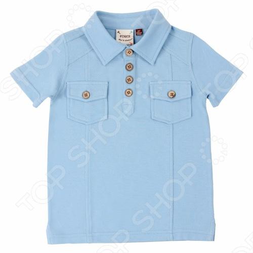 Дизайнер и поклонник гольфа из Калифорнии Пол Нгуйен создает модную одежду уже более 14 лет. Любовь к игре в гольф и рождение его малышей вдохновила на создание собственной линии одежды для маленьких модников. При создании коллекции Пол опирался на историю гольфа и собственный вкус, вводя новшества и создавая модный, современный стиль. Fore!! Axel and Hudson создаёт большинство своих изделий из супермягкого и экологичного бамбукового волокна. Ткань из бамбука имеет множество замечательных свойств. Первое и самое важное, это его необыкновенная мягкость при носке ощущается как шелковый кашемир. Это высококлассный продукт: он гипоалергенный и терморегулируемый, легок в уходе можно стирать при 40 градусах, как и обычный хлопок . Ткань из бамбука не пропускает УФ-излучение. Оригинальная футболка-поло с коротким рукавом Fore!! Axel and Hudson позволит создать модный и запоминающийся образ. Модель голубого цвета имеет классический дизайн, застегивается на четыре деревянные пуговицы. На груди имеется два накладных кармана, закрывающиеся на пуговицы. Такая футболка станет стильным решением для жаркого лета Бамбуковая ткань - это натуральный материал, в прохладную погоду бамбук помогает сохранить тепло, а в теплую - легко его отдает. Другими словами, ваши детки не замерзнут зимой и не вспотеют летом. Бамбук впитывает на 60 больше влаги, чем хлопок, при этом обладает естественными противомикробными свойствами, имеет натуральные поры, благодаря чему ткань отлично дышит и приятно ощущается на коже. Cтойкая окраска, не подвержена линьке и потере цвета, дарит повышенный комфорт при носке.