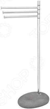 Держатель для полотенец Wenko Pebble Stone - удобный и практичный аксессуар для вашей ванной комнаты. Wenko Pebble Stone - напольная модель, которая занимает минимум места, не мешая свободному движению в помещении, при этом позволяет разместить на ней несколько полотенец или халатов одновременно. Держатель изготовлен из высококачественных материалов, которые значительно продлевают срок службы изделия.