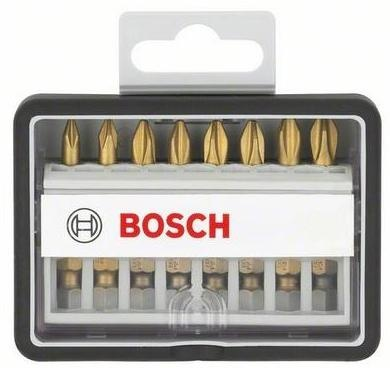 Набор бит Bosch Robust Line S Max Grip 2607002571 бит bosch pz1 х25мм 25шт max grip 2 607 002 490