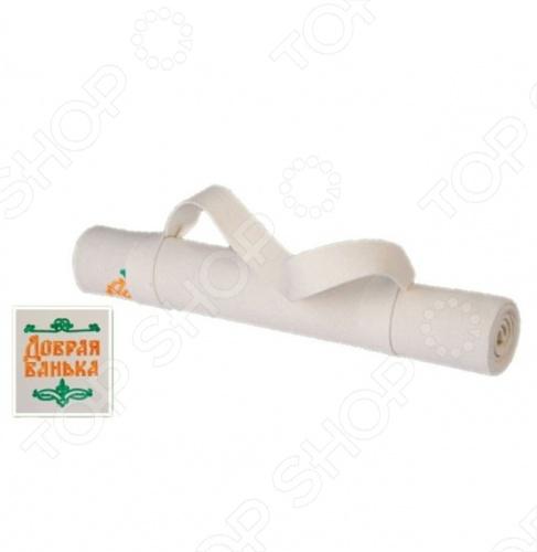 Коврик для сауны Банные штучки «Добрая банька» коврик для сауны банные штучки коврик звёзды банные штучки зеленый войлок