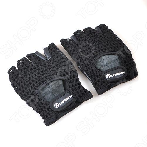 Перчатки Larsen NT503 отлично подойдут для тяжелой атлетики или фитнеса. Сделаны из натуральной кожи и хлопкового волокна. Усиление на ладони дополнительной замшевой вставкой. Тыльная сторона ладони выполнена из сетки. Удобная застежка stick для фиксации на руке.