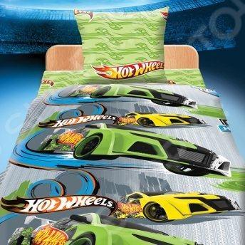 Комплект постельного белья Hot Wheels «Гонки». Детский